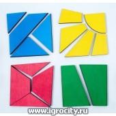 """Подарочный набор """"Сложи квадрат Никитина Дом"""", 1+2+3 уровень, Ступеньки творчества"""