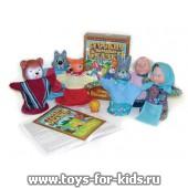 Кукольный театр `Колобок`, 7 персонажей, в коробке, арт 11201 (sale!)