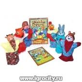 Кукольный театр `Зайкина избушка`, 6 персонажей, в коробке, арт. 11204 (sale!)
