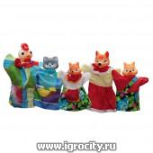 Кукольный театр `Кот, Петух и Лиса`, 5 кукол, арт.11208 (sale!)
