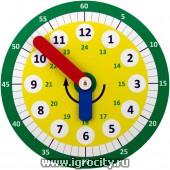 Обучающие часы Никитина (цвета стрелок в ассортименте), Грат (без механизма)