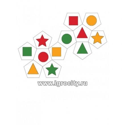 Рыжий КОТ Мозаика пластиковая Шестигранная 240 фишек