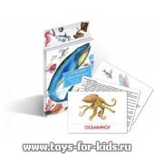 """Дидактические карточки """"Морские животные"""", Маленький гений"""
