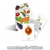 """Дидактические карточки """"Овощи"""", Маленький гений"""