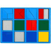 Сложи квадрат. 1 категория. Интеллектуальные игры Б.П.Никитина ( цвет рамки в ассортименте)