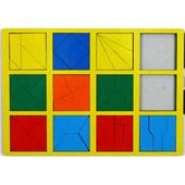 Сложи квадрат. 2 категория. Интеллектуальные игры Б.П.Никитина ( цвет рамки в ассортименте)
