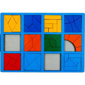 Сложи квадрат. 3 категория. Интеллектуальные игры Б.П.Никитина ( цвет рамки в ассортименте)