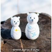 """Набор пальчиковых игрушек """"Умка и белая медведица"""", арт. V0649"""