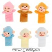 """Набор пальчиковых кукол """"Обезьяна"""" 10 штук, цвета микс, арт. 1109836 (sale!)"""