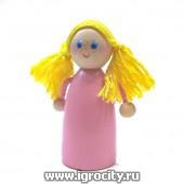 """Пальчиковая игрушка """"Девочка"""", арт. V0607"""