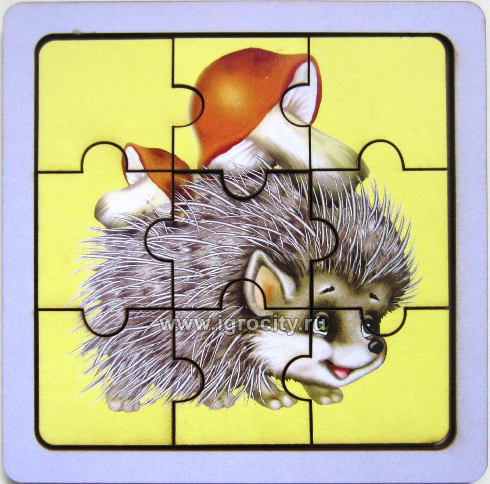 """Пазл """"Ежик с грибами"""", Smile-Decor, арт. П009 - купить в ..."""