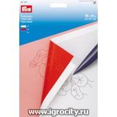 Переводная бумага, 3 листа 5640см (белый/красный/синий), арт. 611272