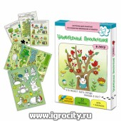 """Развивающие карточки """"Удивительные приключения в лесу"""", Маленький гений"""