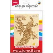 """Выжигание в рамке """"Райская птица"""" (формат рамки 13х18 см.), арт. Вр-055"""